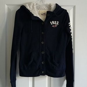 Hollister Hoodie with Faux Sherpa Lining - S